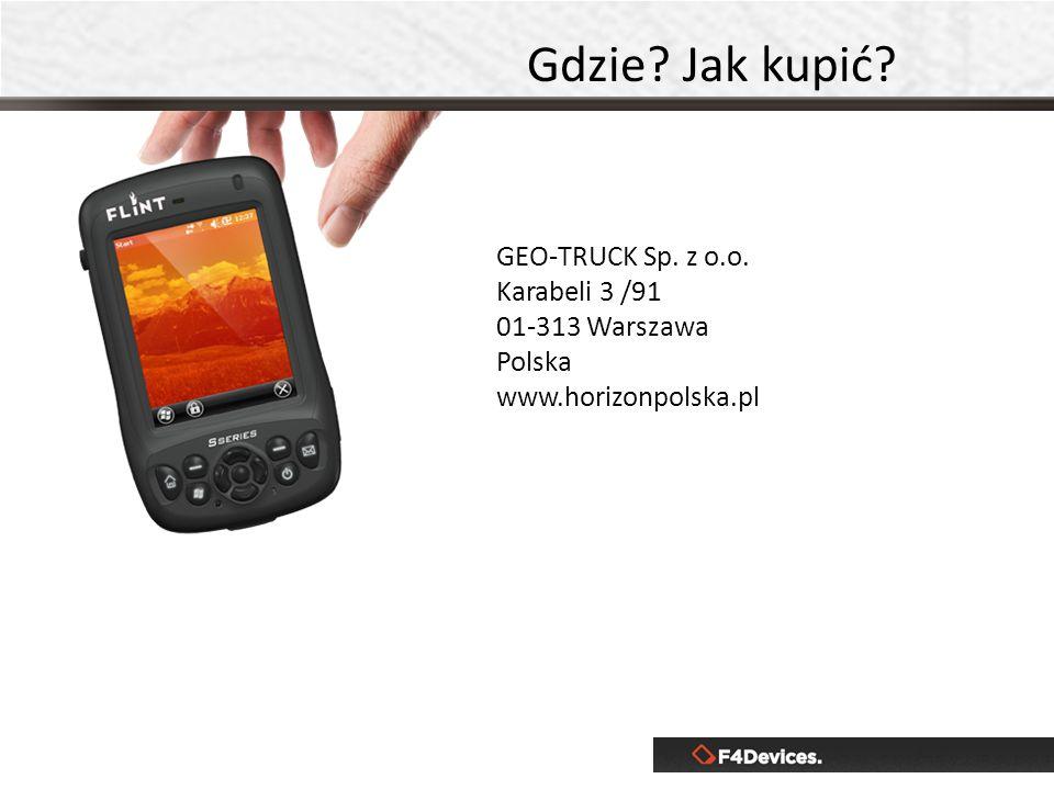 Gdzie Jak kupić GEO-TRUCK Sp. z o.o. Karabeli 3 /91 01-313 Warszawa