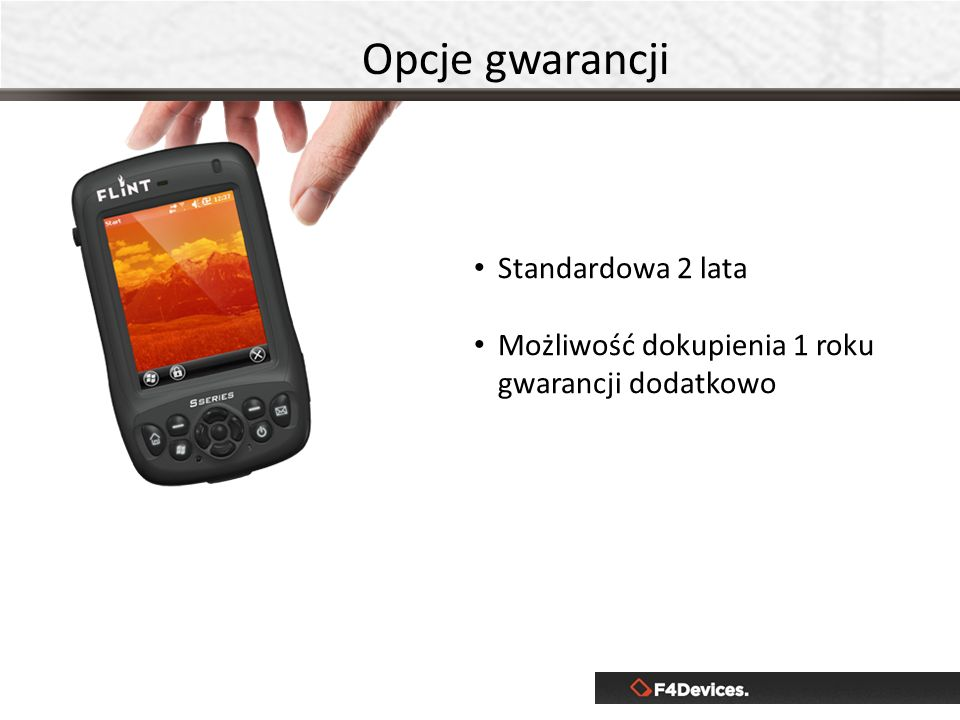 Opcje gwarancji Standardowa 2 lata