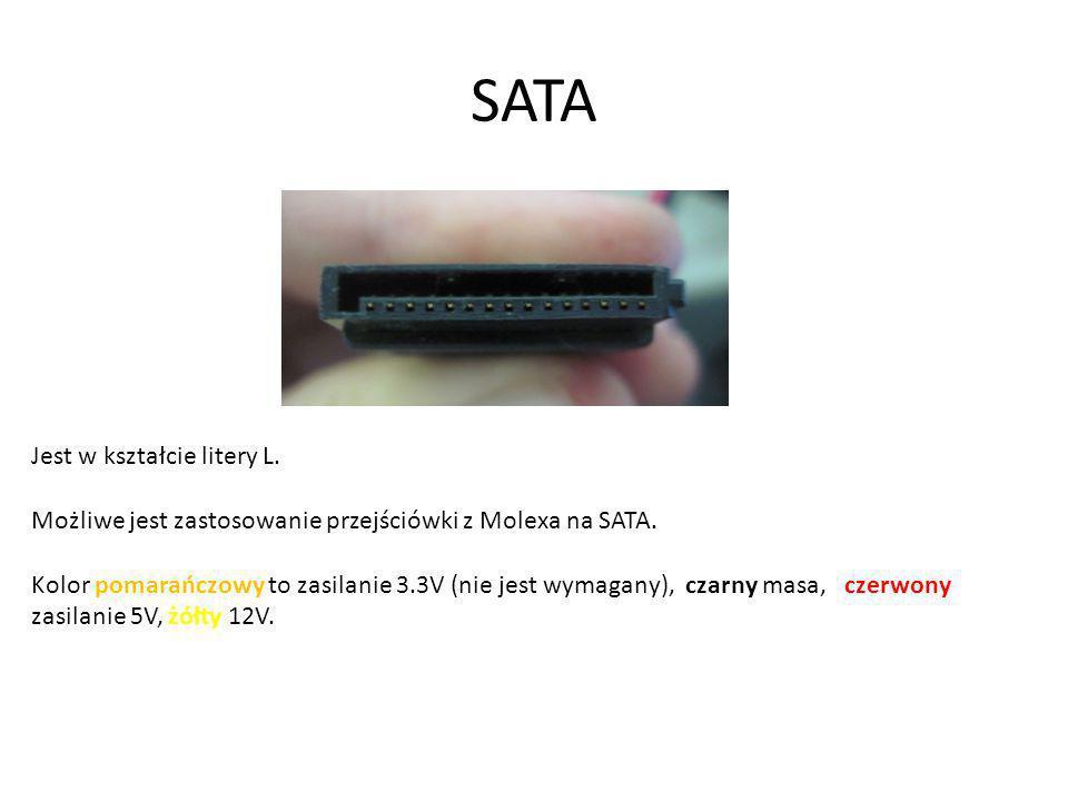 SATA Jest w kształcie litery L.