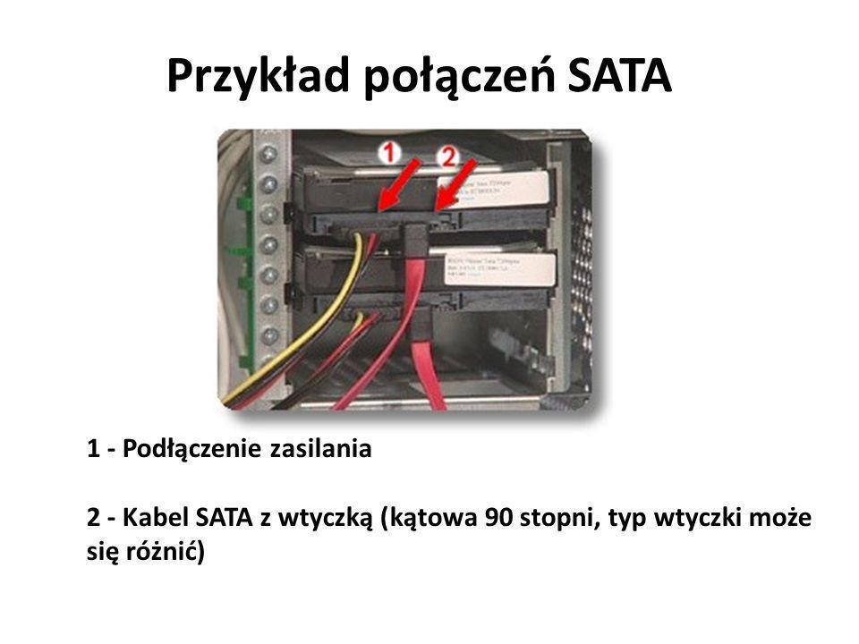 Przykład połączeń SATA