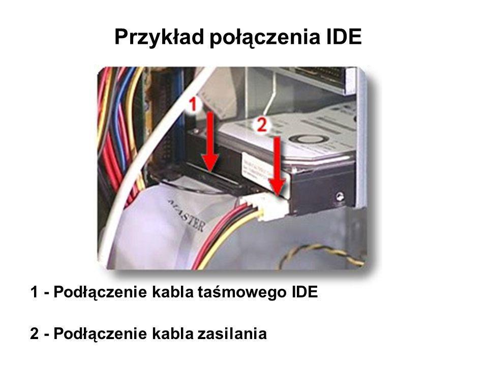Przykład połączenia IDE
