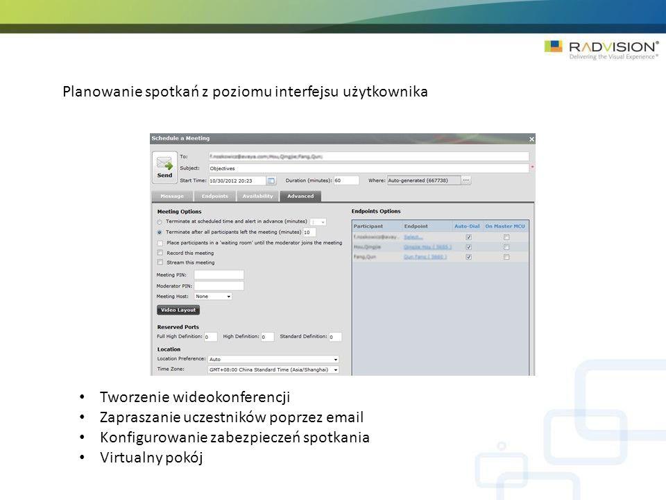 Planowanie spotkań z poziomu interfejsu użytkownika