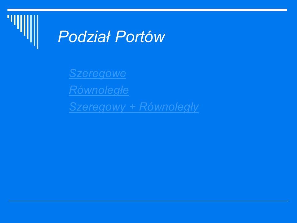 Podział Portów Szeregowe Równoległe Szeregowy + Równoległy