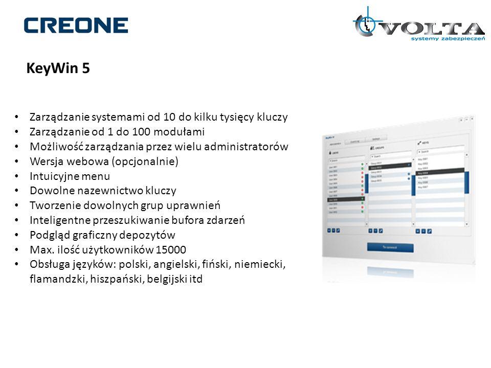 KeyWin 5 Zarządzanie systemami od 10 do kilku tysięcy kluczy