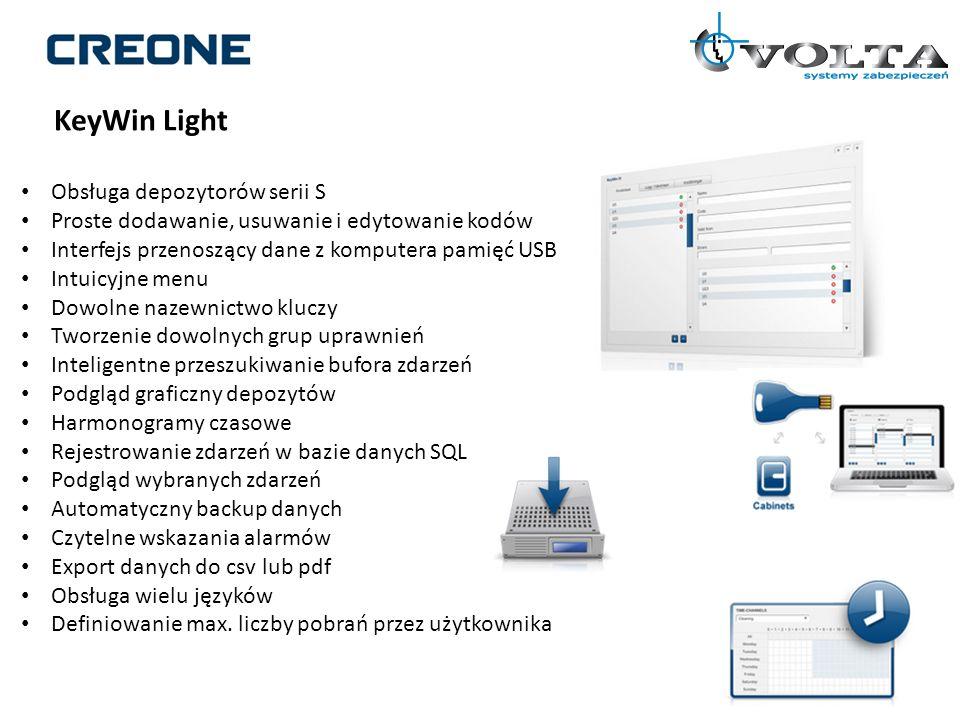 KeyWin Light Obsługa depozytorów serii S