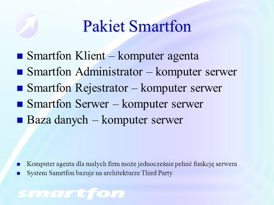 Pakiet Smartfon Smartfon Klient – komputer agenta
