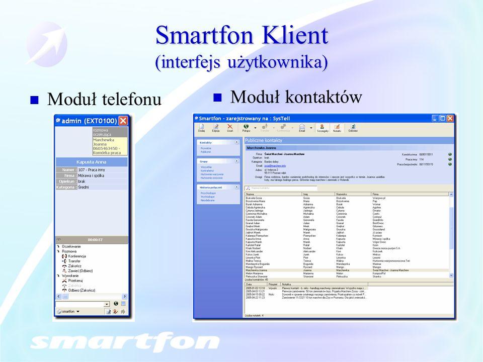 Smartfon Klient (interfejs użytkownika)