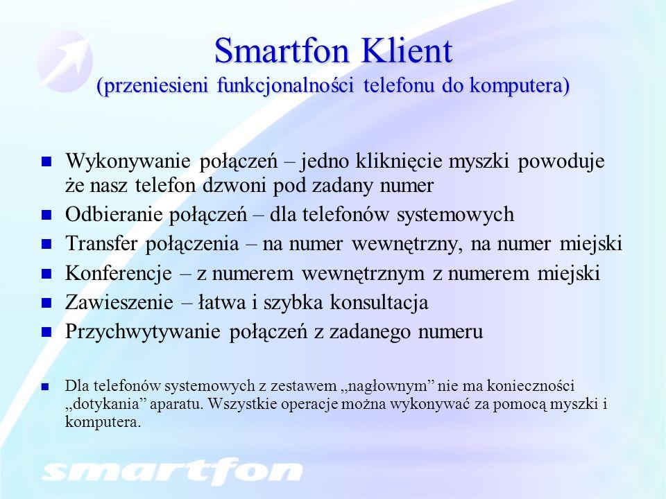 Smartfon Klient (przeniesieni funkcjonalności telefonu do komputera)