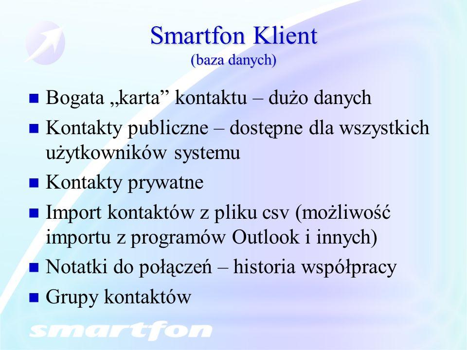 Smartfon Klient (baza danych)
