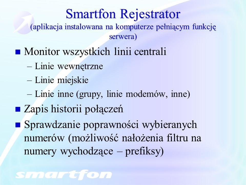 Smartfon Rejestrator (aplikacja instalowana na komputerze pełniącym funkcję serwera)