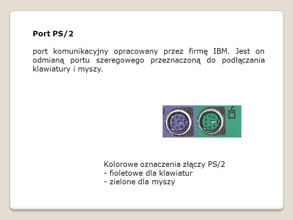 Port PS/2 port komunikacyjny opracowany przez firmę IBM. Jest on odmianą portu szeregowego przeznaczoną do podłączania klawiatury i myszy.