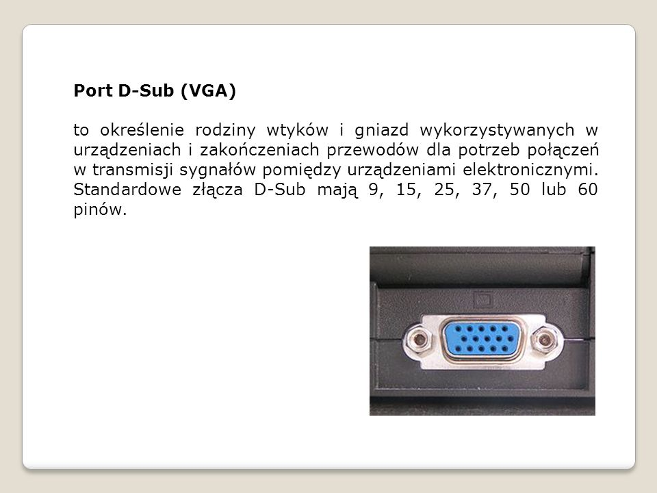 Port D-Sub (VGA)