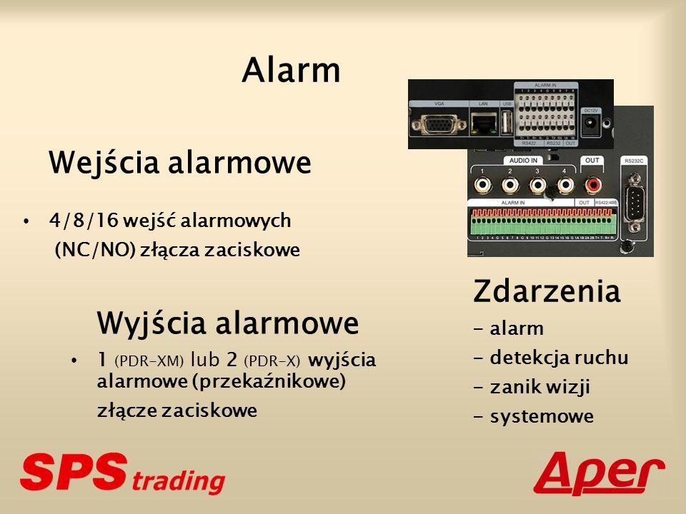 Alarm Wejścia alarmowe 4/8/16 wejść alarmowych