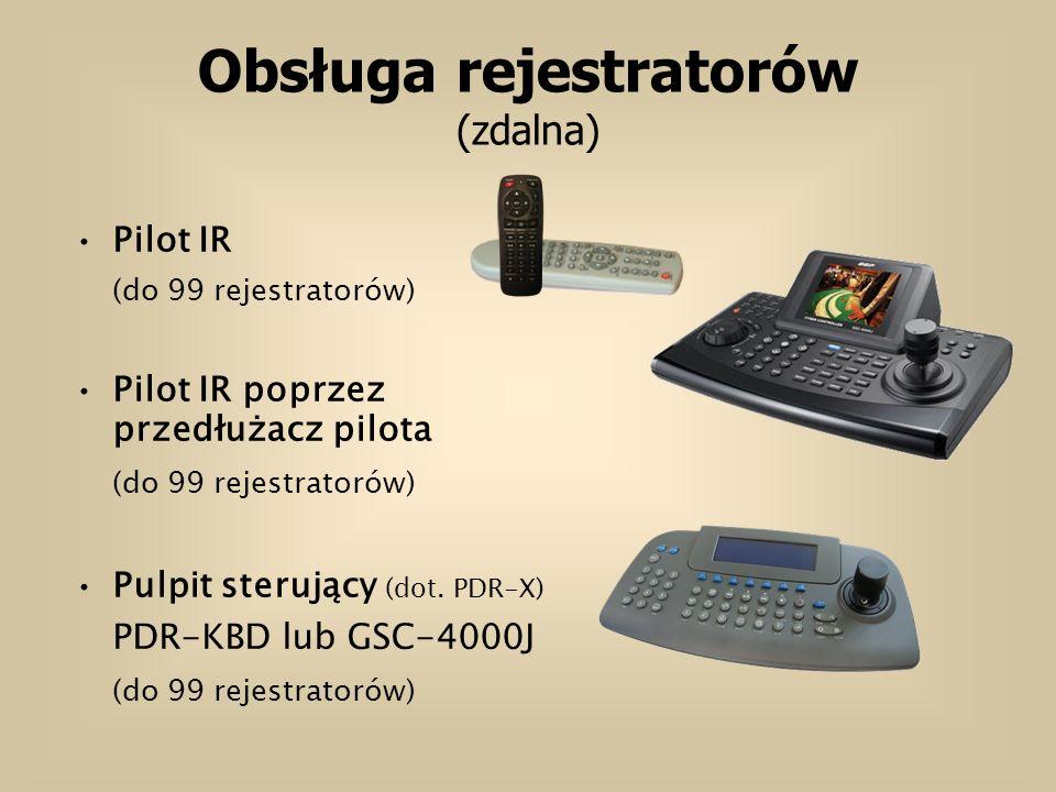 Obsługa rejestratorów (zdalna)