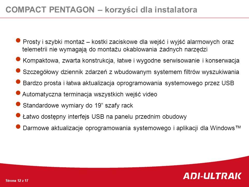 COMPACT PENTAGON – korzyści dla instalatora