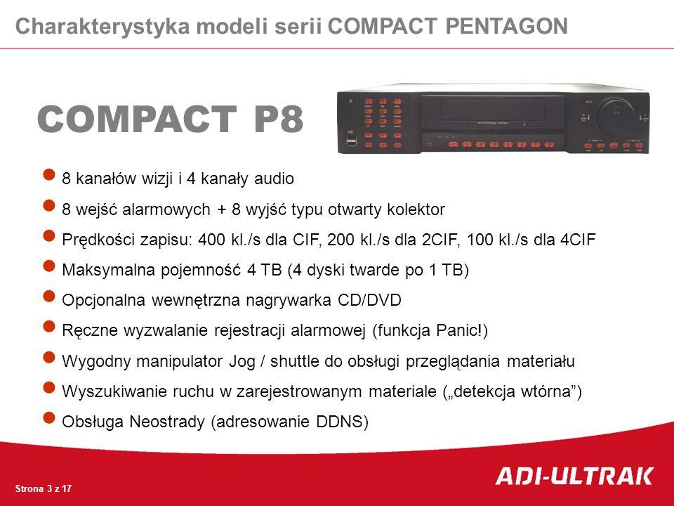 COMPACT P8 Charakterystyka modeli serii COMPACT PENTAGON