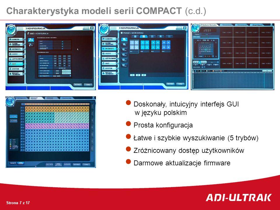 Charakterystyka modeli serii COMPACT (c.d.)