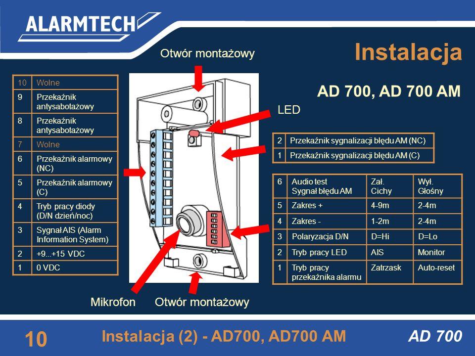 Instalacja AD 700, AD 700 AM Instalacja (2) - AD700, AD700 AM AD 700