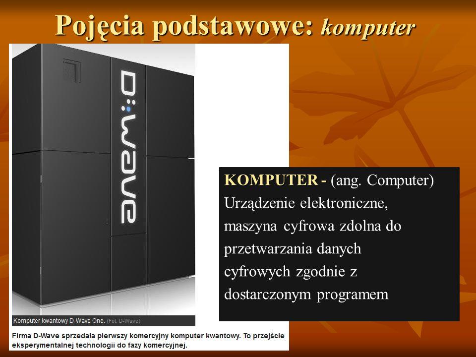 Pojęcia podstawowe: komputer