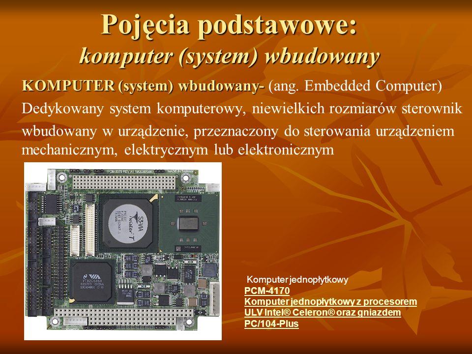 Pojęcia podstawowe: komputer (system) wbudowany