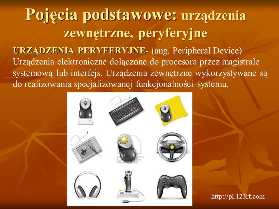 Pojęcia podstawowe: urządzenia zewnętrzne, peryferyjne