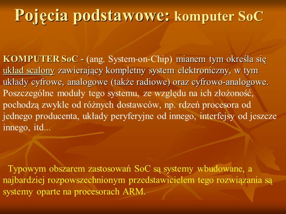 Pojęcia podstawowe: komputer SoC
