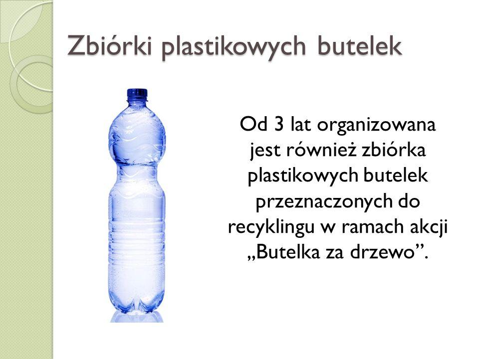 Zbiórki plastikowych butelek