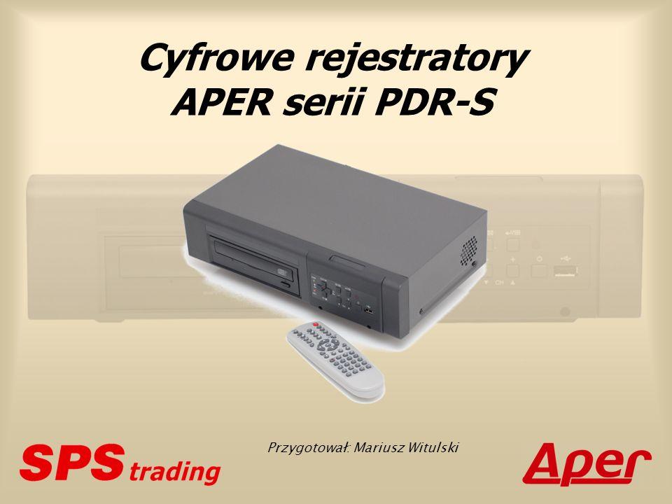 Cyfrowe rejestratory APER serii PDR-S