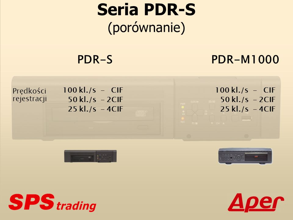 Seria PDR-S (porównanie)