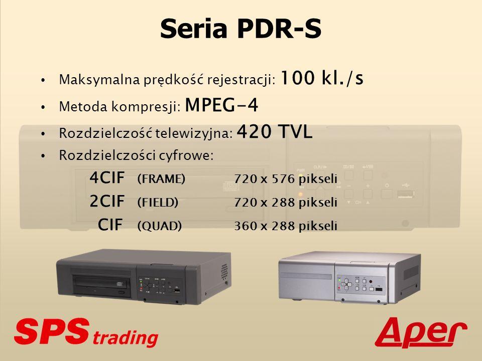 Seria PDR-S Maksymalna prędkość rejestracji: 100 kl./s
