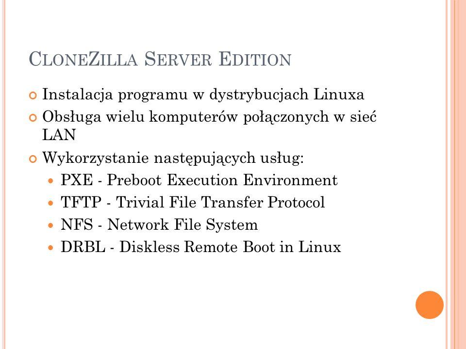 CloneZilla Server Edition