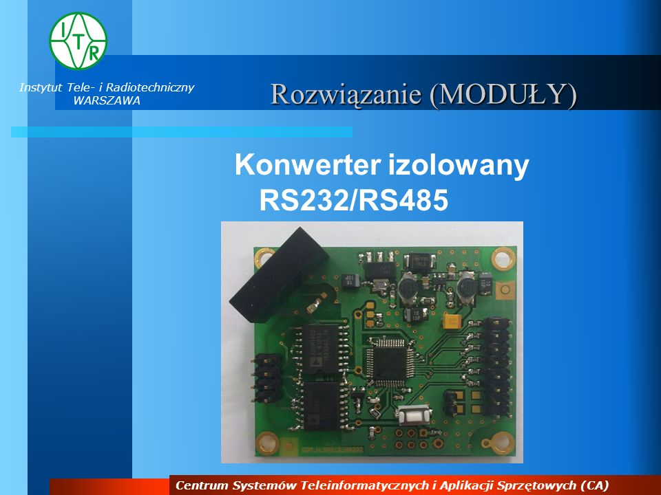 Konwerter izolowany RS232/RS485