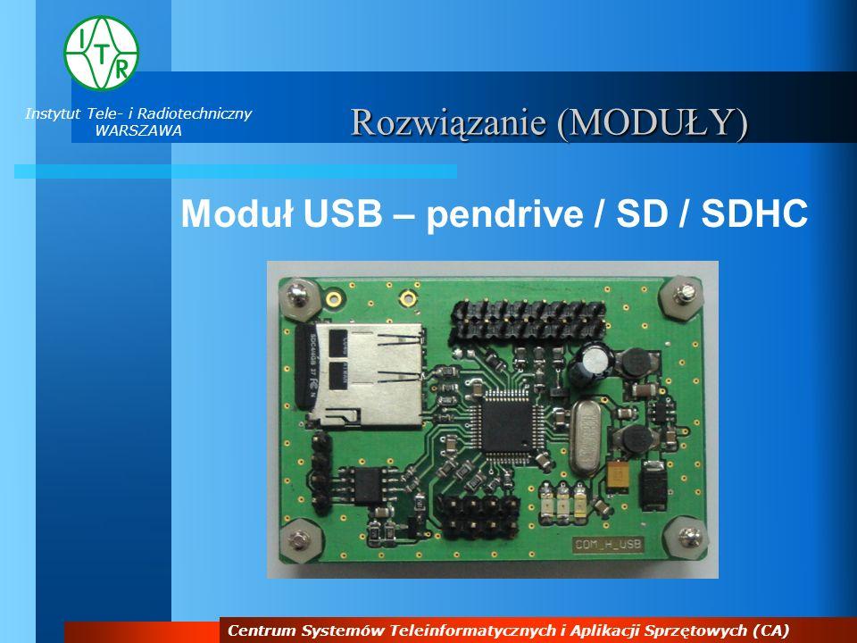 Moduł USB – pendrive / SD / SDHC
