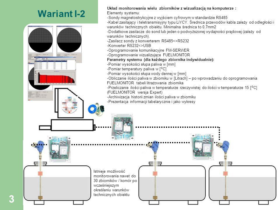 Układ monitorowania wielu zbiorników z wizualizacją na komputerze :