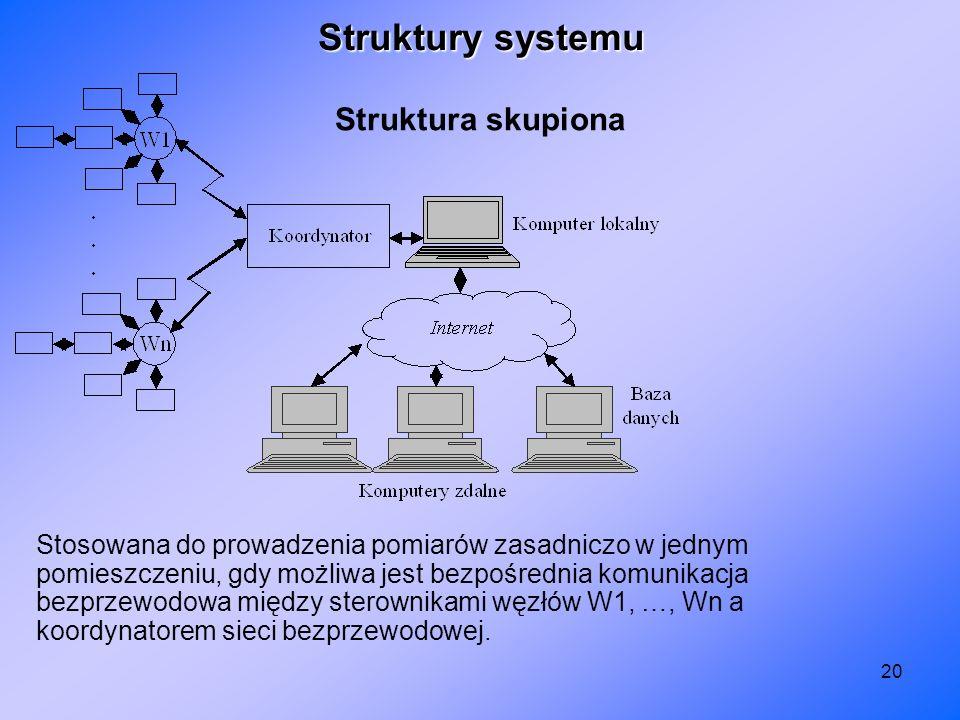 Struktury systemu Struktura skupiona