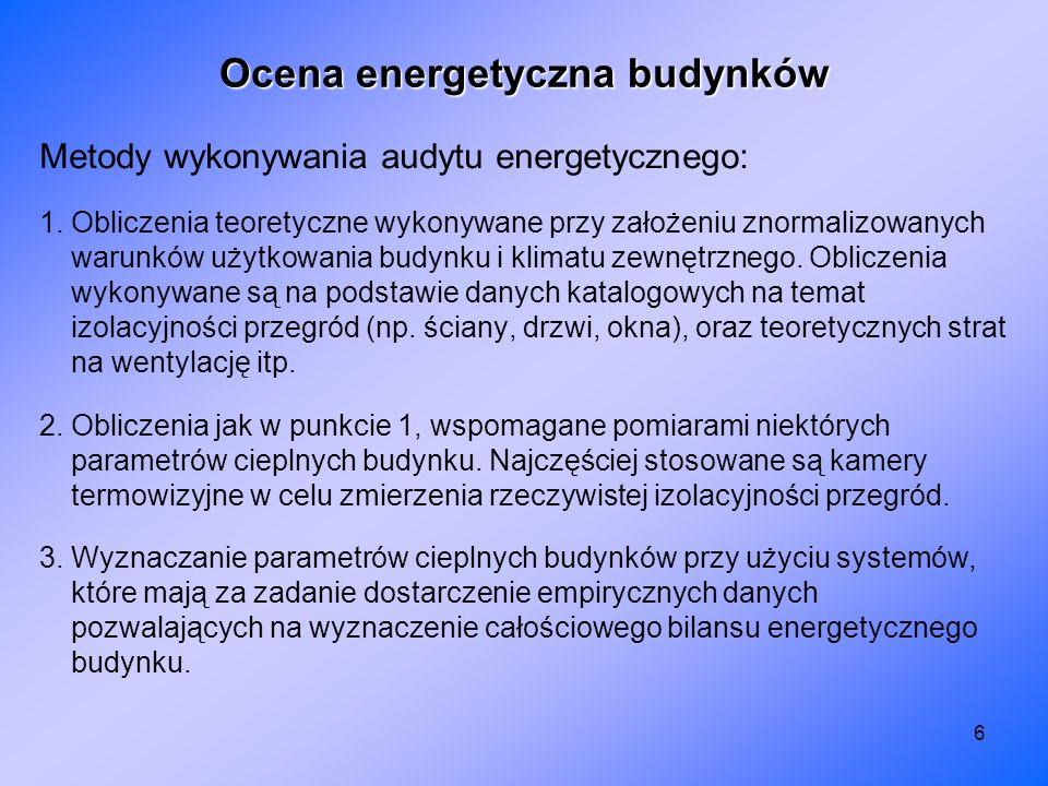 Ocena energetyczna budynków