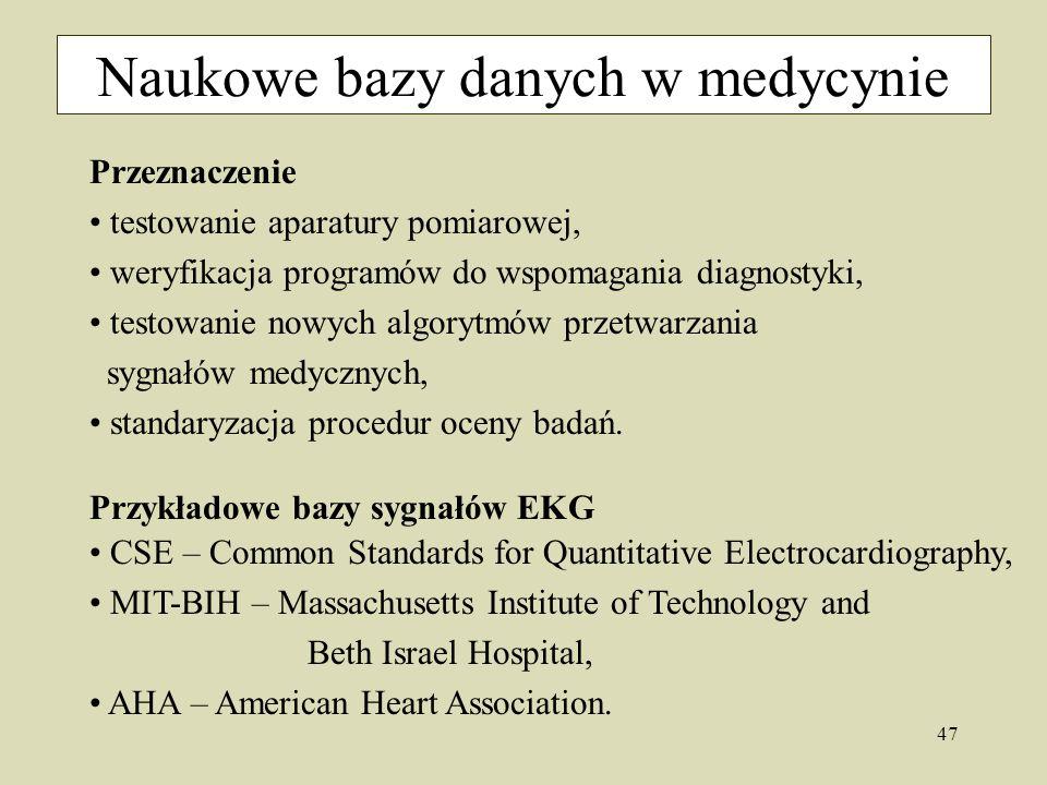 Naukowe bazy danych w medycynie