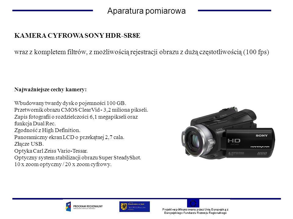 Aparatura pomiarowa KAMERA CYFROWA SONY HDR-SR8E