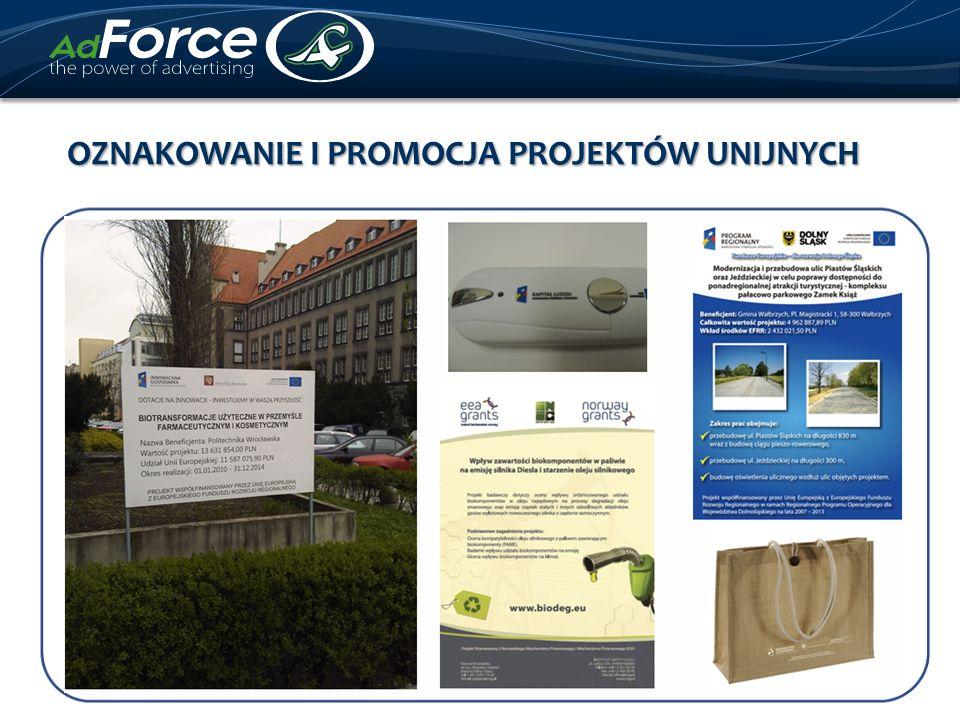 OZNAKOWANIE I PROMOCJA projektów unijnych