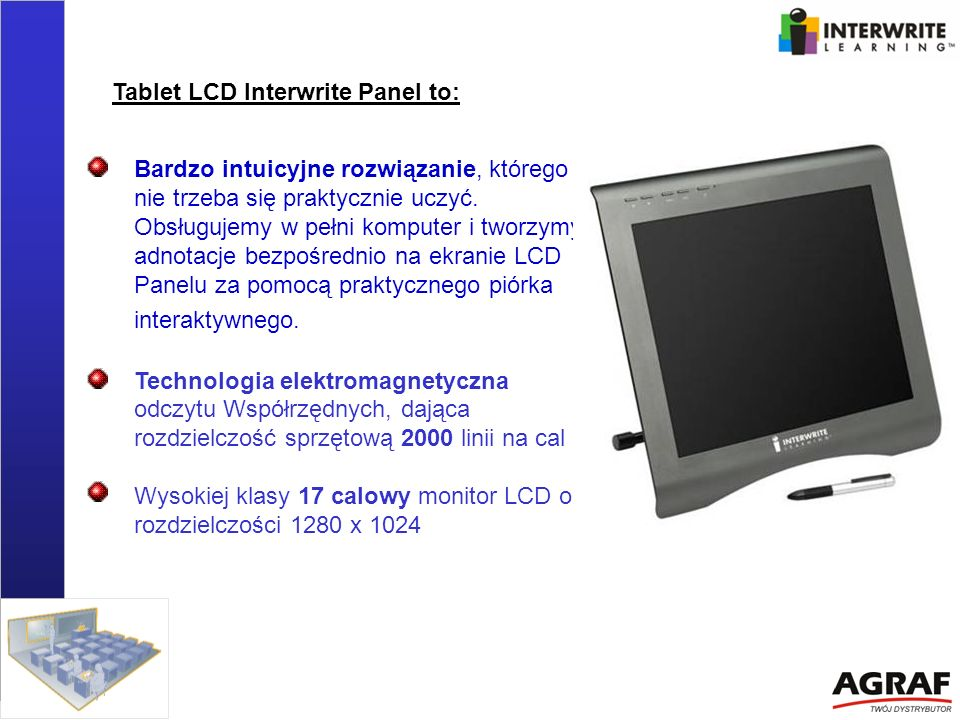 Tablet LCD Interwrite Panel to: