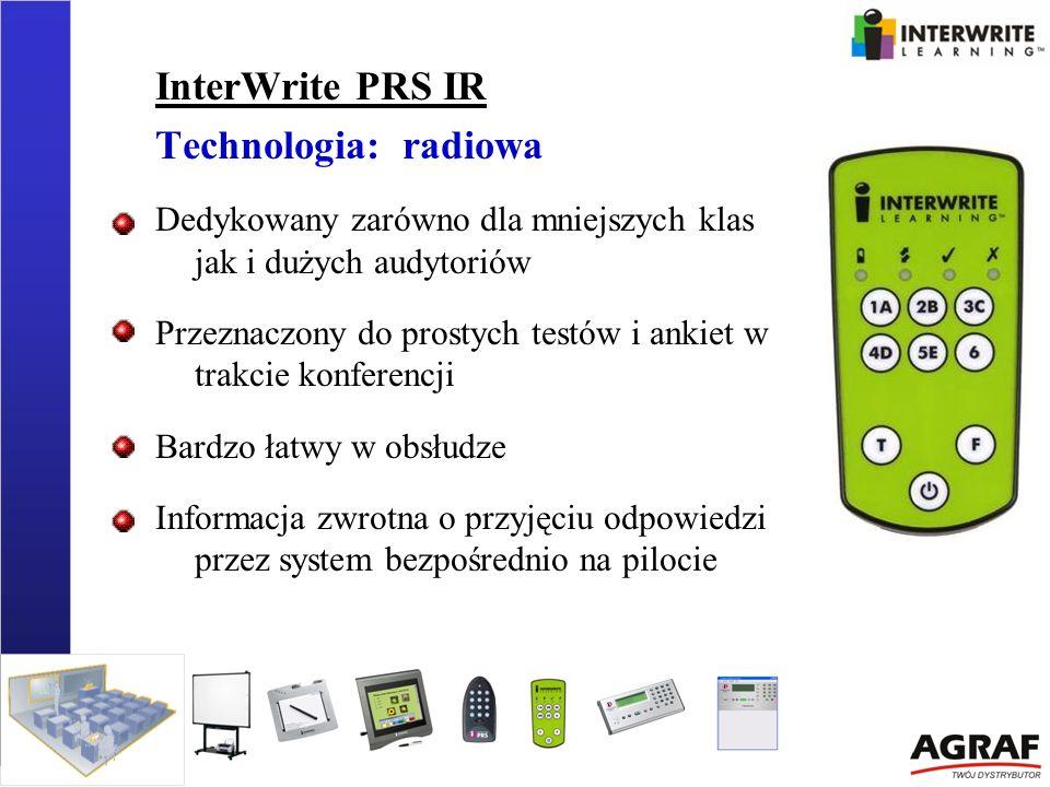 InterWrite PRS IR Technologia: radiowa