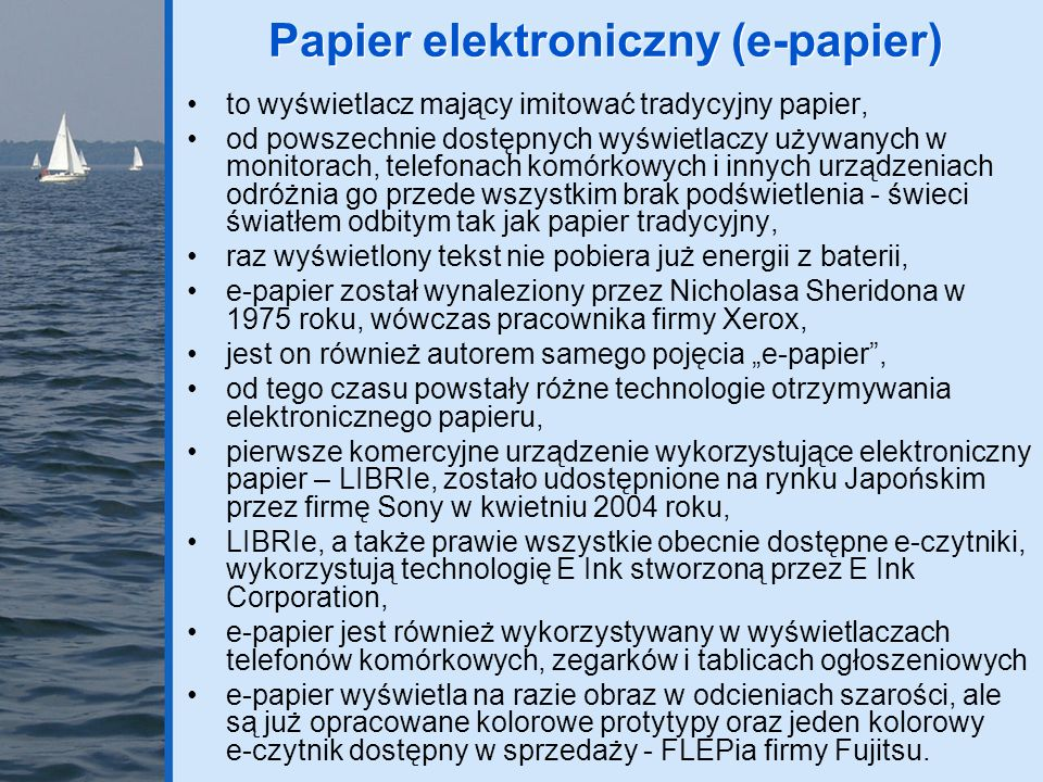 Papier elektroniczny (e-papier)