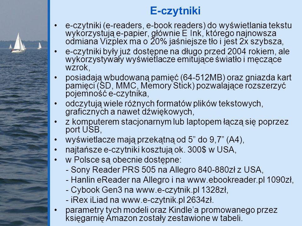 E-czytniki