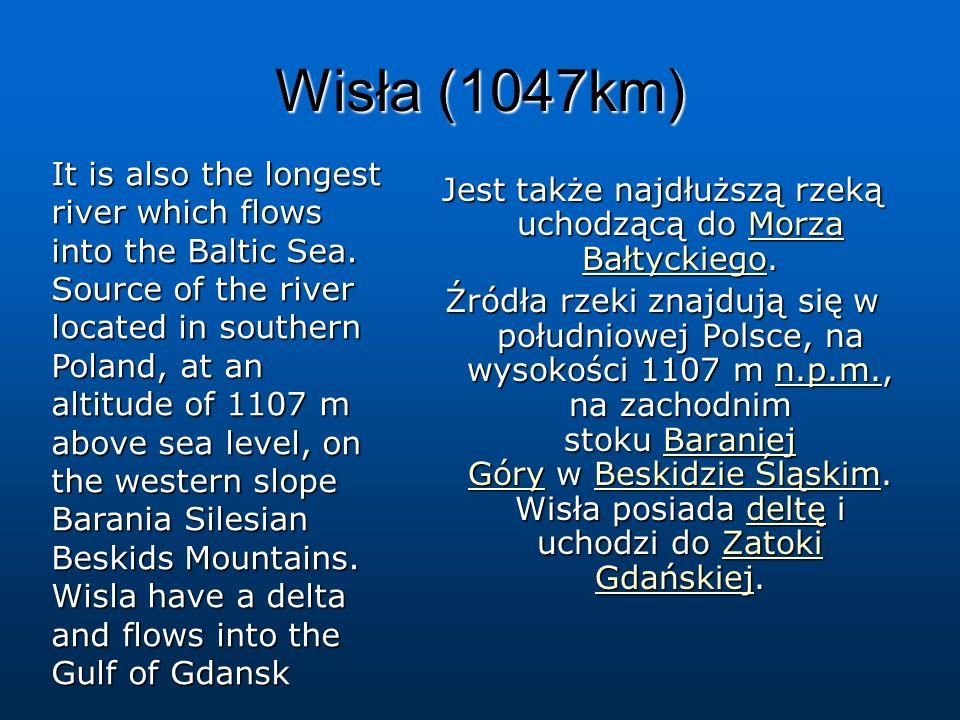 Jest także najdłuższą rzeką uchodzącą do Morza Bałtyckiego.