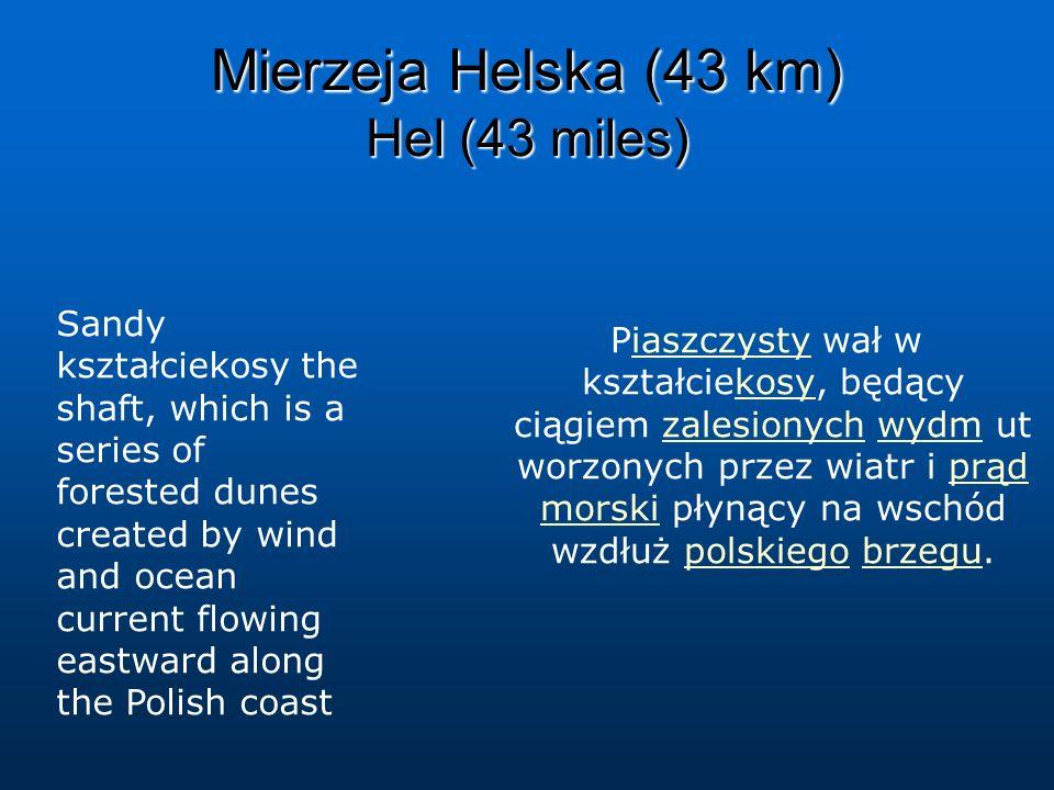 Mierzeja Helska (43 km) Hel (43 miles)