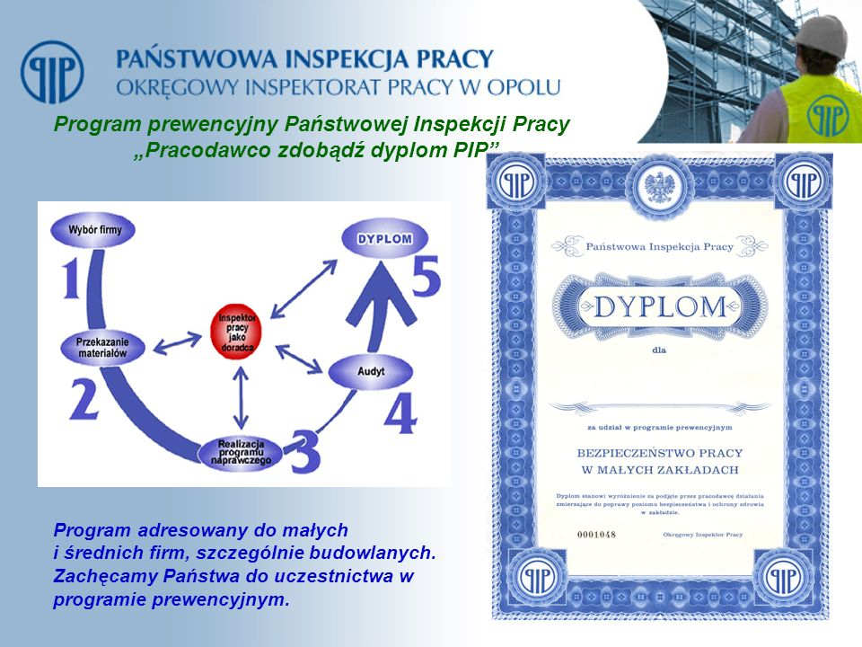 Program prewencyjny Państwowej Inspekcji Pracy