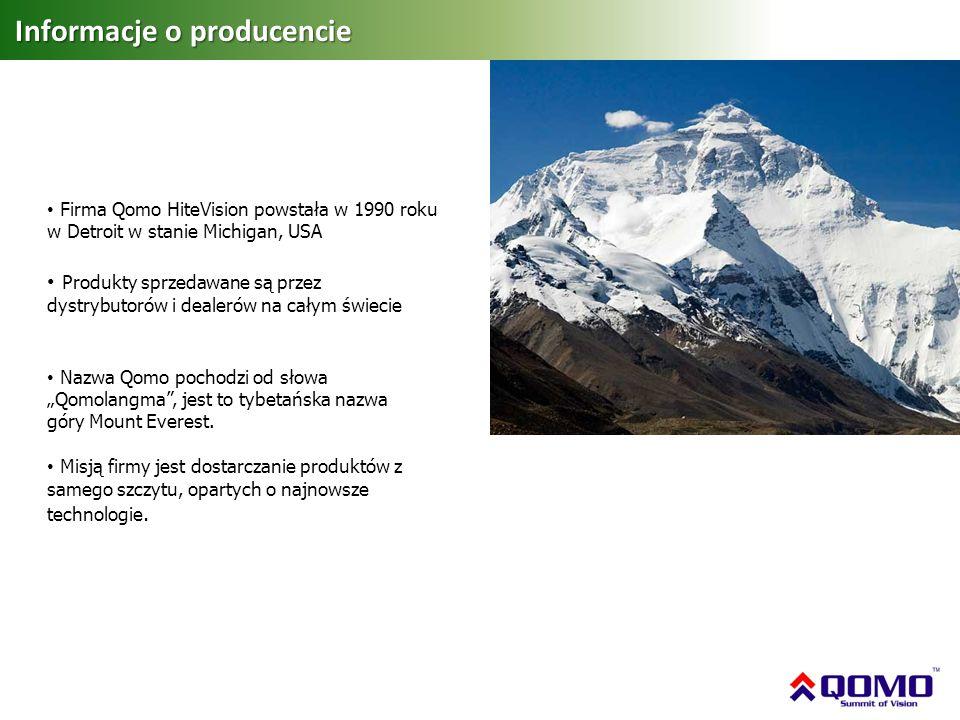 Informacje o producencie