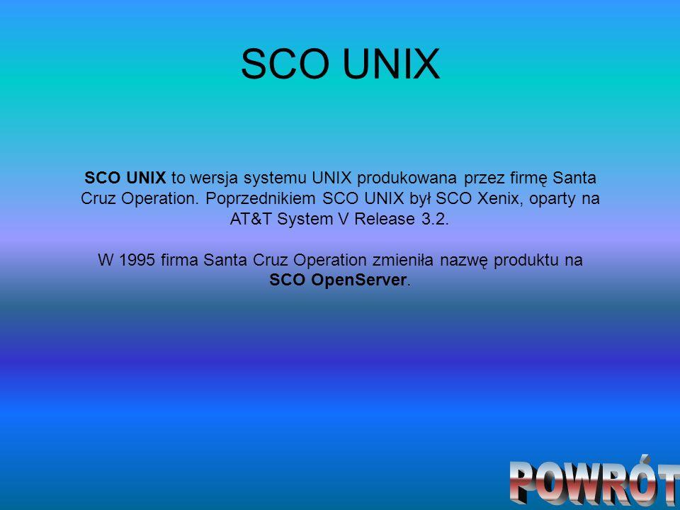 SCO UNIX