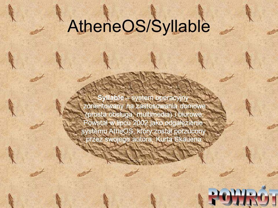 AtheneOS/Syllable POWRÓT Syllable – system operacyjny
