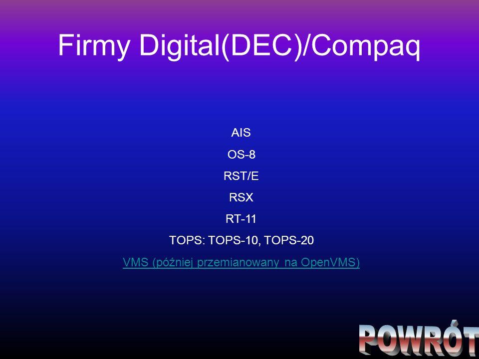 Firmy Digital(DEC)/Compaq
